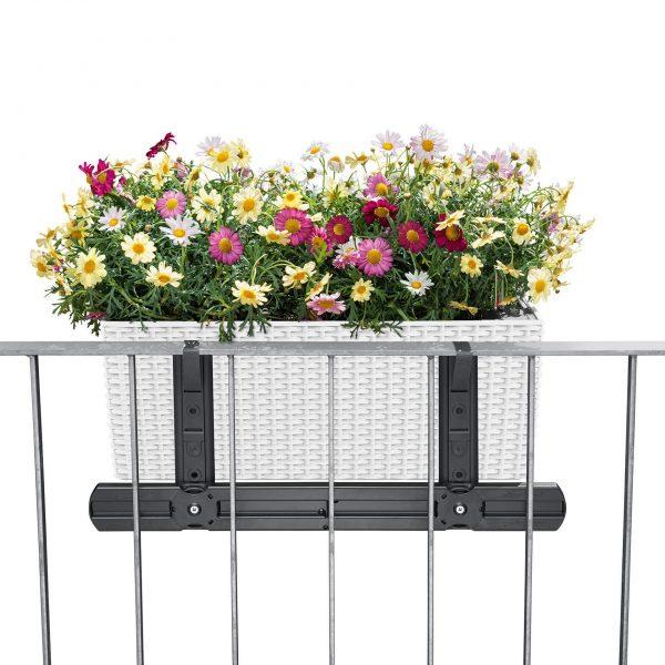 LECHUZA Balkonkastenhalter-Ergänzung weiß (3)