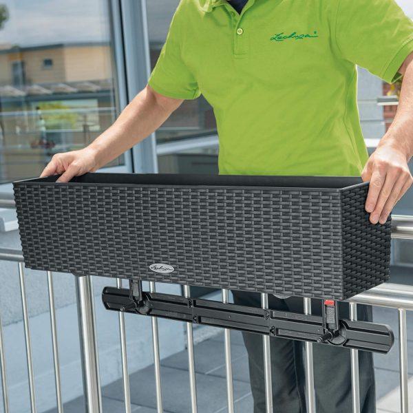 LECHUZA Balkonkastenhalter-Ergänzung weiß (4)